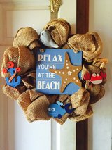 Beach Mesh Wreath in Elizabeth City, North Carolina