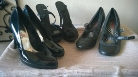 Three Sets of Black High Heels Size 8 1/2 in Fort Bliss, Texas