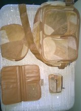 Swiss Colony 4 Piece Suede Leather Purse Set- Brown and Tan in Fort Bliss, Texas