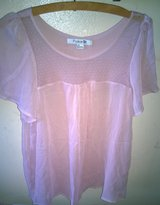 Forever 21 Dusty Rose Chiffon Top, Size Large in Fort Bliss, Texas