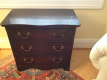 BOWFRONT SOLID WOODEN CHEST with 3 drawers in Wilmington, North Carolina