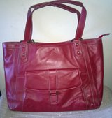 Large Red Leather Laptop Bag in Fort Bliss, Texas