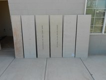 5 Half Sheets of Hardie Backer Tile Board About 18 Inches by 5 Feet by Half Inch Thick in Alamogordo, New Mexico