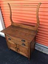 Antique Solid Oak Wash Stand W/ Towel Bar in Cherry Point, North Carolina