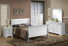 Clearance Center ~ King White Sleigh Bed in Beaufort, South Carolina