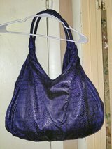 Extra Large Dark Periwinkle Plum Simulated Leather Shoulder Bag in Fort Bragg, North Carolina