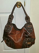Extra Large Multicolor Brown Simulated Leather Shoulder Bag in Fort Bragg, North Carolina