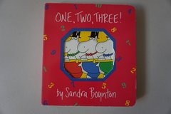 One, Two, Three! Board Book in Joliet, Illinois