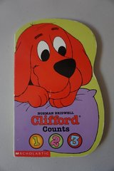 Clifford Counts 1, 2, 3 Board Book in Joliet, Illinois