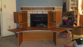 Homemade entertainment center in Fort Lewis, Washington
