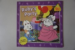 Nick Jr Ruby's Pary (Max & Ruby) Paperback Book in Aurora, Illinois