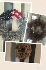 Wreaths in Fort Bliss, Texas