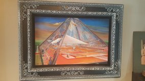 Glass Pyramid Original Oil on Canvas in Spring, Texas
