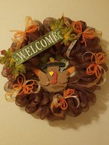 Thanksgiving wreath in San Antonio, Texas