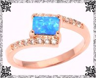 New - Blue Opal Rose Gold Filled Ring - Size 7 in Alamogordo, New Mexico