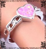 New - Heart Pink Opal Ring - Size 7 in Alamogordo, New Mexico
