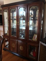 Japanese style China cabinet and 8 chair table in Beaufort, South Carolina