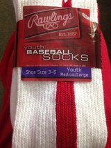New Rawlings Baseball socks youth med/large shoe 3-6 in Naperville, Illinois
