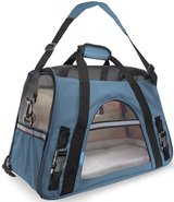 OxGord Airline Approved Pet Carriers w/ Fleece Bed For Dog & Cat - Mineral Blue Large in Lockport, Illinois