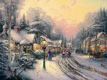 "Thomas Kinkade ""Village Christmas"" Matted & Framed in Fort Belvoir, Virginia"