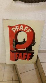 Pfaff metal sign *rarely* in Ramstein, Germany