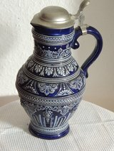 Old German Wine Pitcher w/ pewter lid in Ramstein, Germany