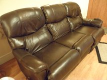 Lazyboy Leather Double Couch Recliner & Matching Loveseat in Fort Leonard Wood, Missouri