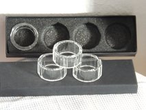 Crystal Napkin Ring Set in Ramstein, Germany