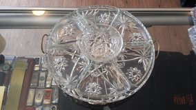 Vintage Crystal Multi-Tray Serving Platter in 29 Palms, California