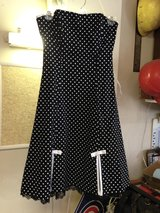 Black w/White Polka Dots Strapless Dress by A. Byer - 3 in Bolingbrook, Illinois