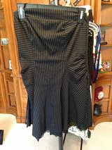 Black w/White stripes Strapless Dress by Taboo - M in Bolingbrook, Illinois