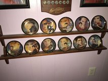 Elvis plates and calendar in Fort Campbell, Kentucky