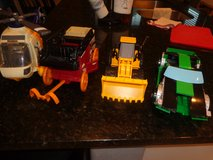 Toys, Car, helicopter, bull dozer and stage coach in CyFair, Texas