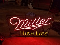Miller high life neon sign in Tinley Park, Illinois