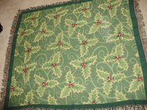 Christmas Holly tapestry throw blanket in Camp Lejeune, North Carolina