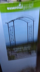 stain glass all metal frame arbor in Lawton, Oklahoma
