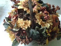 Fall Arrangement in Wicker Basket in Eglin AFB, Florida