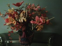 Fall Arrangement in Wicker Turkey Container in Eglin AFB, Florida