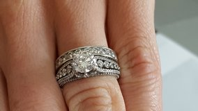 Diamond engagement ring and band in Eglin AFB, Florida