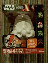 "Star Wars Design a Vinyl Stormtrooper Disney Large 9"" x 8"" helmet New in box in Yorkville, Illinois"