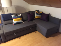 IKEA corner couch with pull out bed, like new only 1 year old in Grafenwoehr, GE