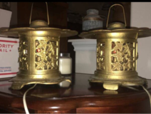 2 Asian Lantern Style Lamps in Kingwood, Texas