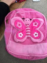 Pink butterfly little backpack for baby in Camp Lejeune, North Carolina