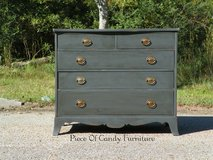 Charcoal Gray Aged Dresser in Kingwood, Texas