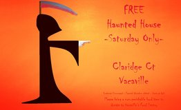 Free Haunted House Saturday Only in Travis AFB, California