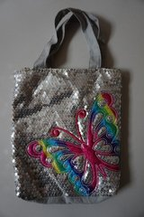 Silver Sequin w/ Rainbow Butterfly Purse or Mini Tote in Chicago, Illinois