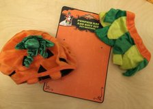 Pumpkin Hat and Ruffle Set Pet Costume in Wheaton, Illinois