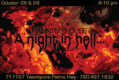 "Free Haunted House: ""A Night In Hell..."" in 29 Palms, California"