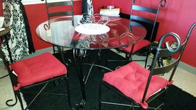 Glass top dining table in Fort Irwin, California