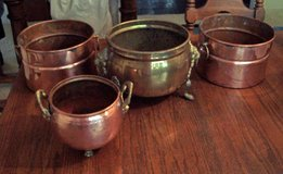 Copper and Brass Pots in Tomball, Texas